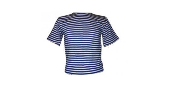 Námořnické triko krátký rukáv modrobílé pruhy - ruské námořnictvo ... 8d2c989685
